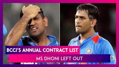 BCCI Announces Annual Players' Contract List, MS Dhoni Left Out