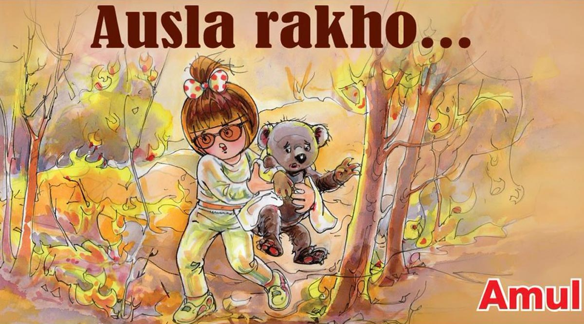 Amul Dedicates Topical to the People of Australia After the Devastating Bushfires (View Pic)