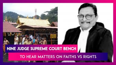 Sabarimala Temple Hearing In Supreme Court: Nine Judge Bench To Hear Matters On Faiths vs Rights