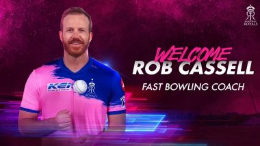 IPL 2020: Rob Cassell Appointed Rajasthan Royals Fast Bowling Coach