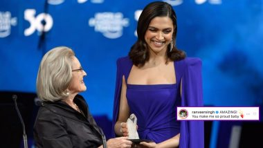 Deepika Padukone Bags Crystal Award at WEF 2020 and Husband Ranveer Singh Could Not Have Been Prouder!