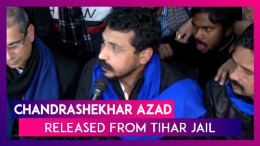Bhim Army Chief Chandrashekhar Azad Released From Tihar Jail, Says Will Fight Till CAA Is Taken Back