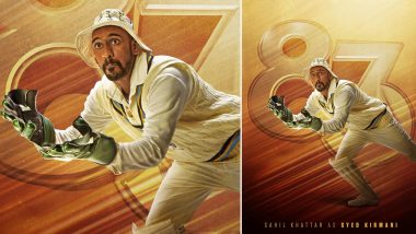 83 The Film: Ranveer Singh Releases Sahil Khattar's Character Poster as Syed Kirmani (View Pic)