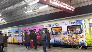 Lucknow-Delhi Tejas Express Promotes Uttar Pradesh Tourism Through Attractive Decal Work Done on Train, See Pics