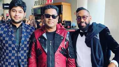 Grammys 2020: AR Rahman and Son Ameen Meet Maroon 5's PJ Morton (View Pic)