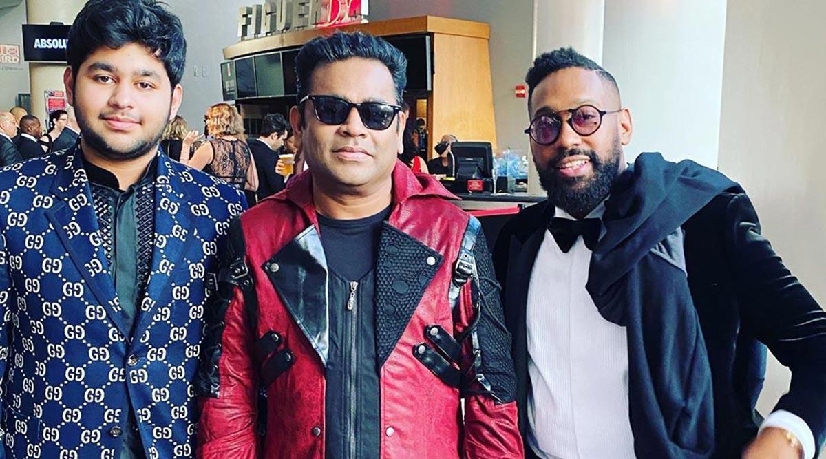 Grammys 2020: AR Rahman and Son Ameen Meet Maroon 5's PJ Morton (View Pic)