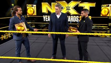 Adam Cole Wins WWE NXT Male Competitor of the Year Award; Shayna Baszler Bags Award in the Female Division Category (Watch Videos)