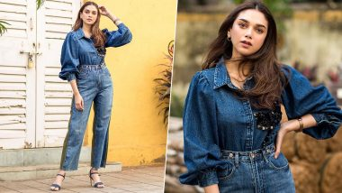 Thrifty Style: Aditi Rao Hydari Makes a Stunning Case for an Embellished Denim Shirt and We Are Smitten!