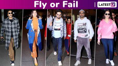 Fly or Fail: Ranveer Singh, Ayushmann Khurrana, Varun Dhawan, Shraddha Kapoor, Bhumi Pednekar Drop Some Cool Travel Styles!