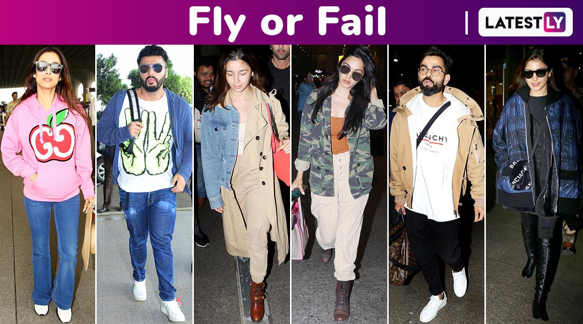 Fly or Fail: Anushka Sharma, Alia Bhatt, Malaika Arora, Arjun Kapoor, Athiya Shetty, Kiara Advani, Disha Patani Nail Some Chic Styles!
