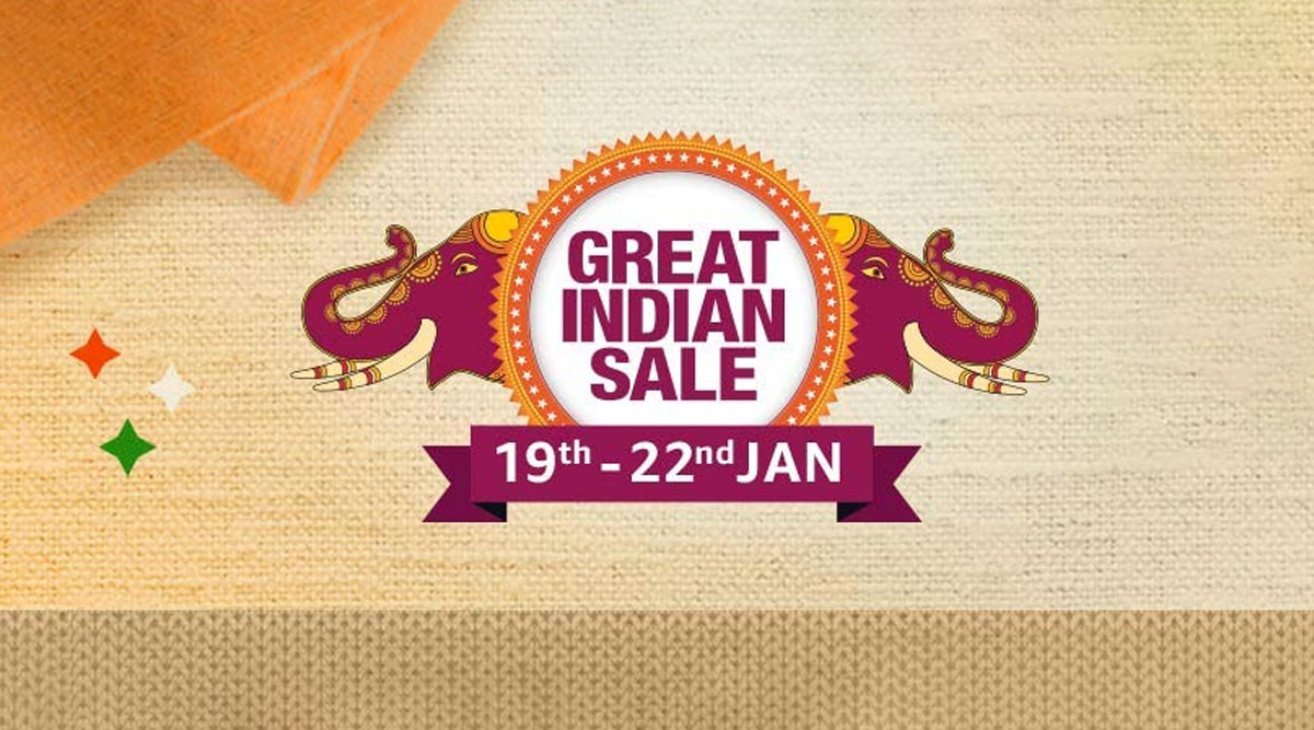 Amazon Great Indian Sale 2020 Starts From January 19; Exciting Deals & Massive Discounts on Smartphones, Electronics, TVs & Fashion