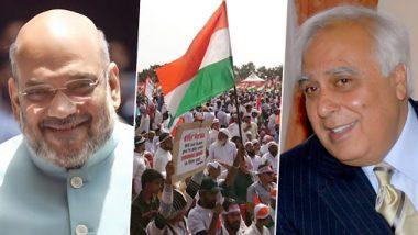 Kapil Sibal Makes Counter Challenge to Amit Shah, PM Narendra Modi for Open Debate on CAA