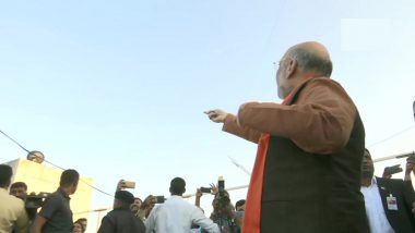 Amit Shah Attends Uttarayan Event in Ahmedabad, Flies Kite; Watch Video