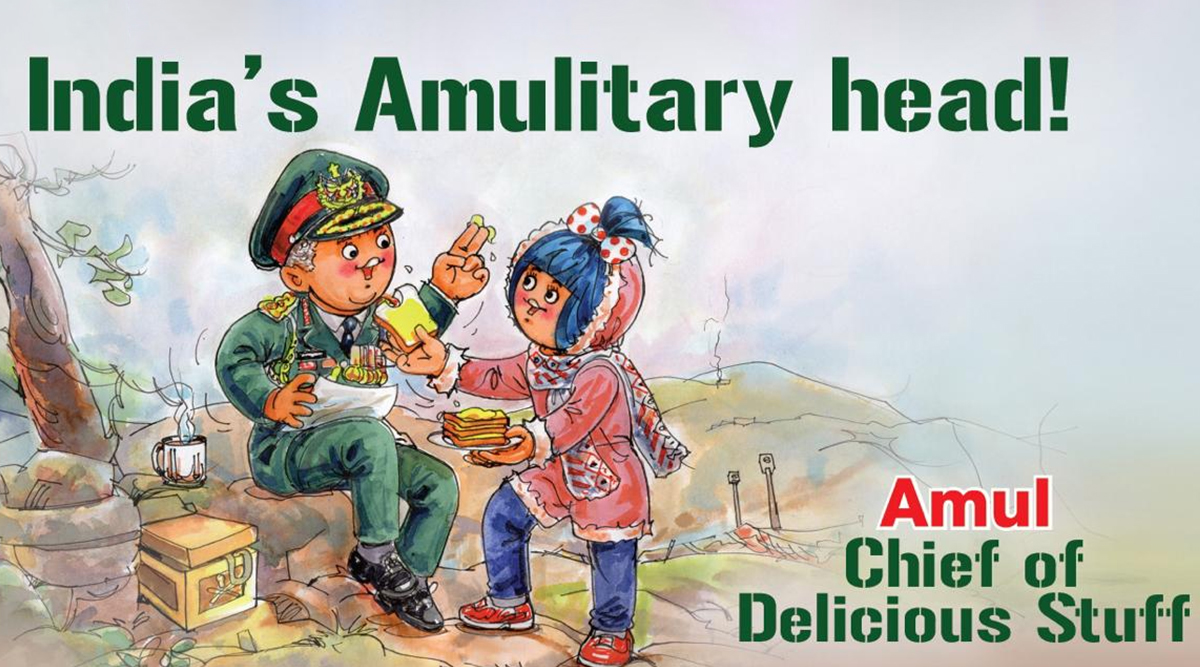 Amul Congratulates General Bipin Rawat On Becoming India's First Chief of Defence Saff, View Topical Ad