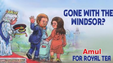 Amul Makes a Topical Ad on Prince Harry and Meghan Markle's Exit From Royal Family, Check Out Their Creative Doodle on Megxit!