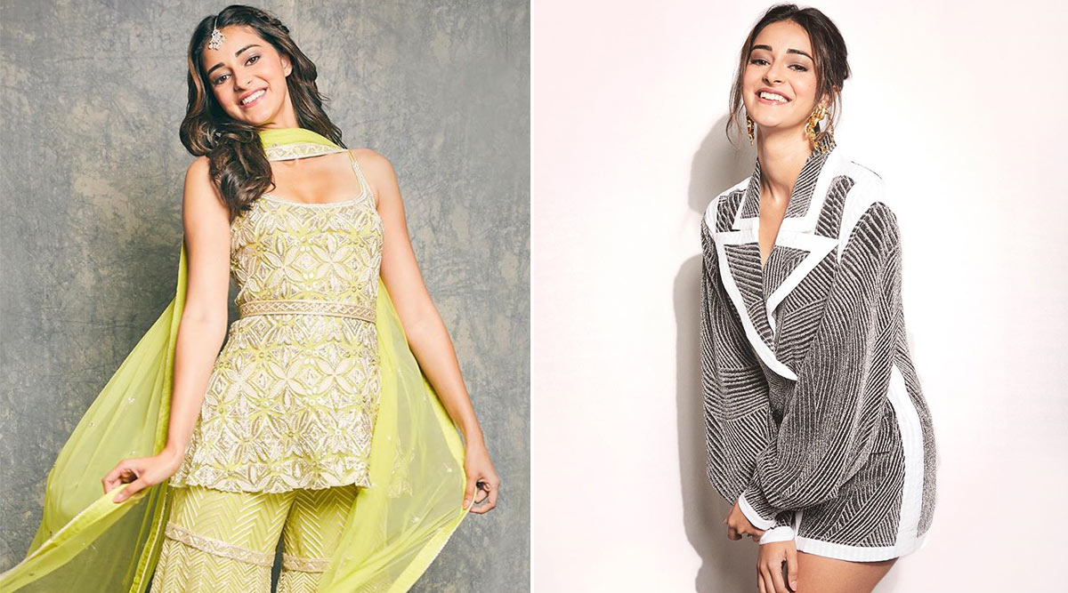 Ananya Panday Goes From Chic in Stripes to Ethereal in Ethnic in the Blink of an Eye!