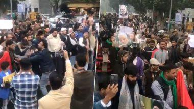 Anti-US Protest Held in New Delhi Against Iranian General Qassem Soleimani's Killing, Watch Video