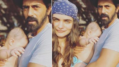 Arjun Rampal and Gabriella Demetriades Share a Super Cute Pic With Baby Arik From Their Goa Trip!