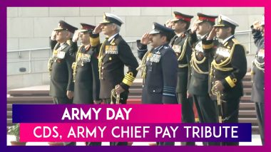Army Day: CDS General Bipin Rawat, Chiefs Of Armed Forces Pay Tribute At The National War Memorial