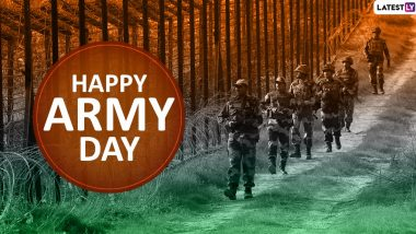 Happy Indian Army Day 2020 Greetings: WhatsApp Stickers, Facebook Quotes, GIF Images, Wishes and Messages to Send on Sena Diwas