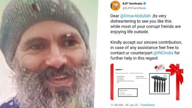 BJP Sends 'Razor' to Omar Abdullah After Ex-J&K CM's Bearded Image Sets Social Media Abuzz, Says 'Contact Congress For Further Help'