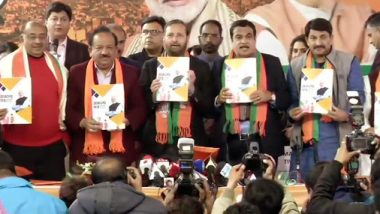 Delhi Assembly Elections 2020: BJP Releases Manifesto, Promises Clean Water and Air by 2024, Says 'Will Give 10 Lakh Jobs to Unemployed Youth'