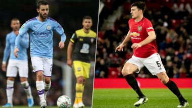 Man City vs Man United, Carabao Cup 2019/20: Bernardo Silva, Harry Maguire & Other Key Players to Watch Out for in Manchester Derby in Football League Cup Semi-Final Clash