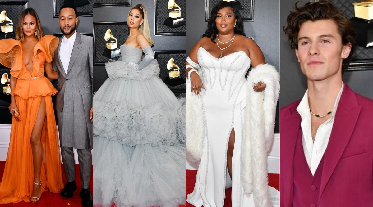 grammys 2020 best dressed ariana grande billy porter chrissy teigen shawn mendes lead the pack of stunning styles latestly grammys 2020 best dressed ariana