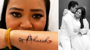 Bharti Singh's Birthday Gift For Hubby Haarsh Limbachiyaa Is A Beautiful Tattoo (View Pic)