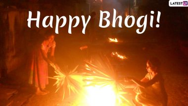 Happy Bhogi 2020 Wishes: WhatsApp Stickers, Hike Image Messages, Telegram GIFs, Quotes, SMS to Send Greetings on First Day of Pongal