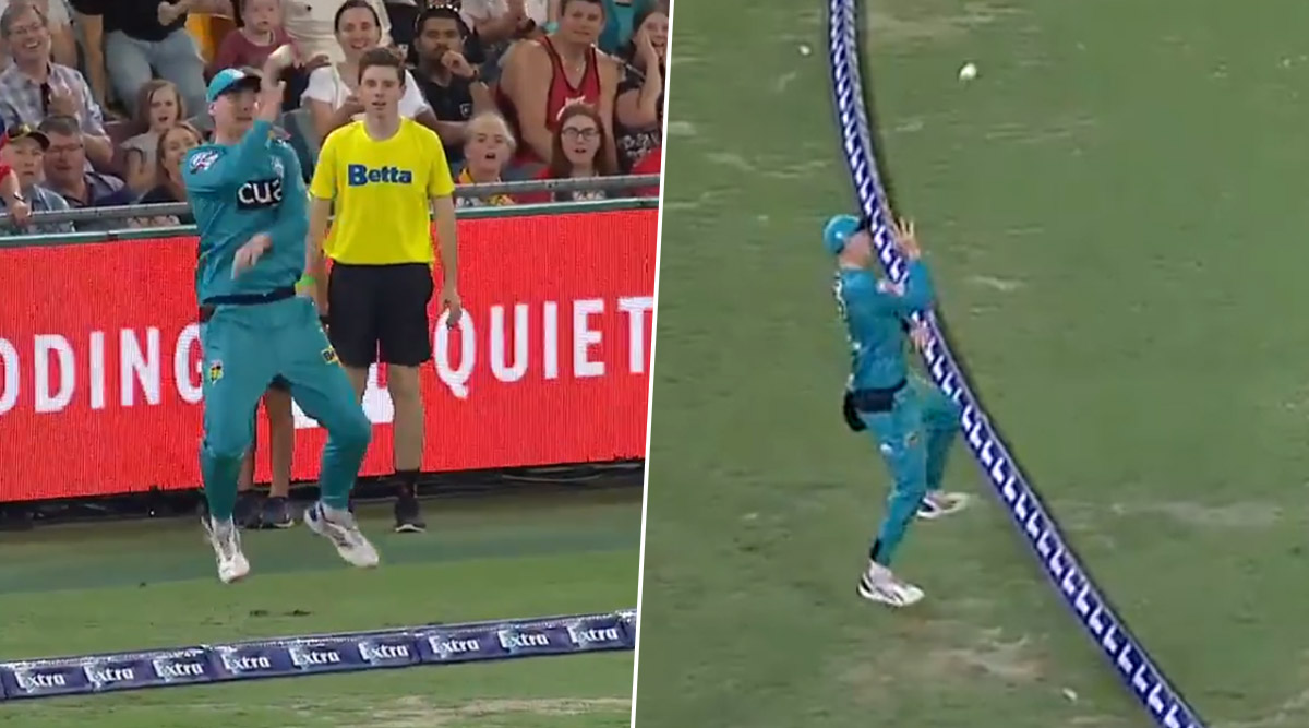 BBL 2019–20: Matthew Renshaw's Stunning Effort in Hobart Hurricanes vs Brisbane Heat Game Creates a Flutter (Watch Video)