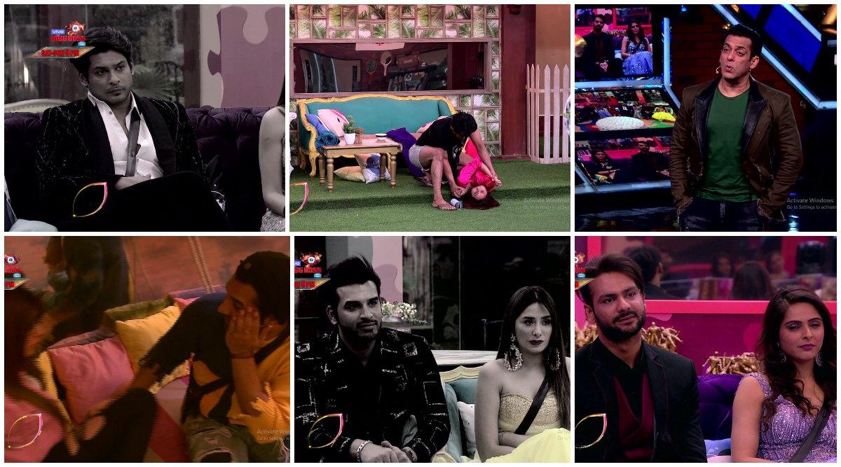 Bigg Boss 13: Salman Khan Slams Sidharth Shukla For Pinning Shehnaaz Gill To The Ground, Blames Vishal Aditya Singh and Madhurima Tuli For Hitting Each Other (Watch Video)
