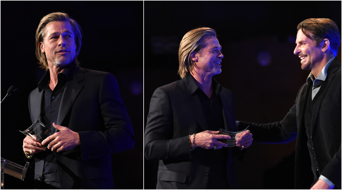 Brad Pitt Gushes About Friend Bradley Cooper, Credits the A Star Is Born Actor For Helping Him Get Sober in His NBR Awards Acceptance Speech (Watch Video)