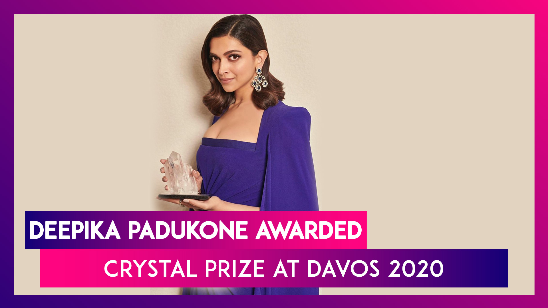 Deepika Padukone Recipient Of The 26th Crystal Award, Speaks About Fighting Depression At Davos 2020