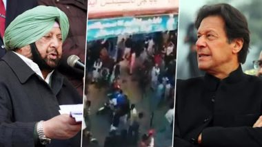 Nankana Sahib Stone Pelting: Captain Amarinder Singh Writes to Pak PM Imran Khan, Appeals to Save Historic Gurdwara and Rescue Devotees