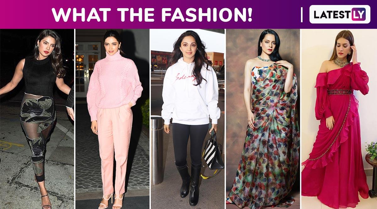 What the Fashion! Deepika Padukone, Priyanka Chopra, Kangana Ranaut, Kiara Advani and Kriti Sanon Make Some Snazzy Splurges!