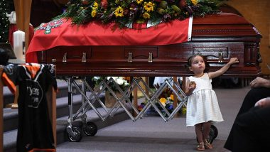 Australia Bushfires: Late Firefighter's Daughter Innocently Plays Beside His Coffin, These Funeral Pictures Will Break Your Heart