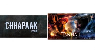 Chhapaak vs Tanhaji: The Unsung Warrior Box Office Report Day 4: Deepika Padukone's Film Earns Rs 21.37 Crore, Ajay Devgn's Flick Rs 75.68 Crore