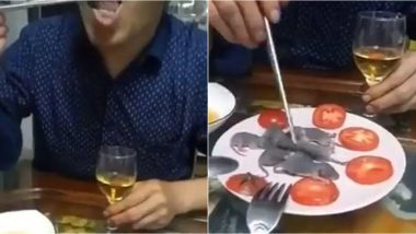Man Dips Live Baby Mouse in Sauce And Eats It Amidst Coronavirus Outbreak, Video Goea Viral