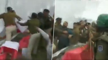 Madhya Pradesh: Congress, BJP Workers Clash at an Event in Bhopal (Watch Video)