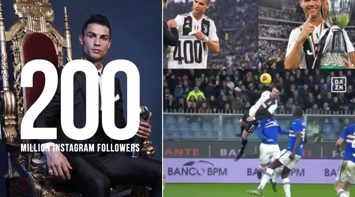 Cristiano Ronaldo Becomes First Person To Reach 200 Million Instagram Followers Shares Video To Thank His Fans Latestly