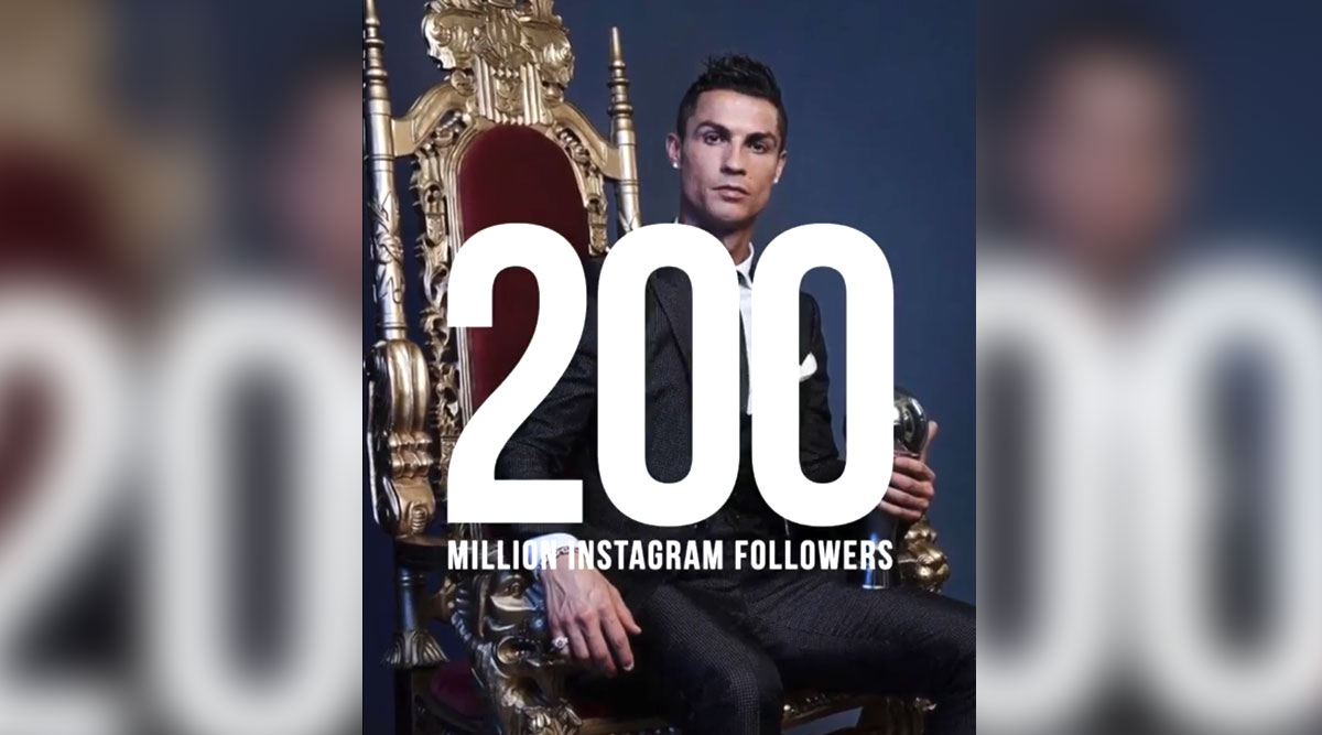 Cristiano Ronaldo Becomes First Person To Hit 200 Million Followers on Instagram