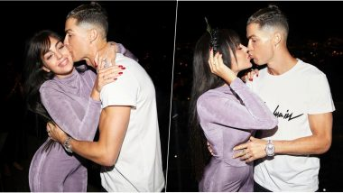 Cristiano Ronaldo Kisses Girlfriend Georgina Rodriguez, Wishes Everyone Happy New Year 2020 (View Pics)