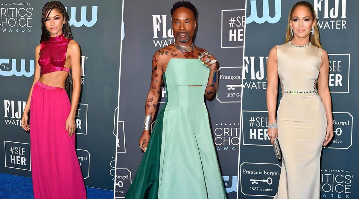 Critics' Choice Awards 2020: Zendaya, Billy Porter, Jennifer Lopez and Other Hollywood Stars Make Fashionable Entries on The Red Carpet (View Pics)