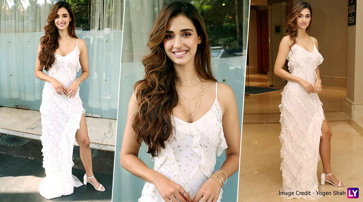 Malang Promotions: Disha Patani Unravels Her Angelic Side in a White Ruffled Dress (View Pics)