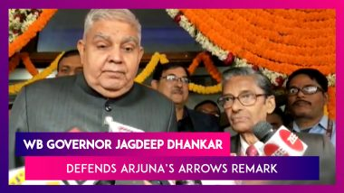 WB Governor Jagdeep Dhankar Stands By 'Arjuna's Arrow Had Nuclear Power' Remark; Says Can Debate With Anyone