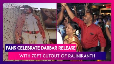 Rajinikanth Starrer 'Darbar' Releases Today   Gets A Celebratory Welcome From Fans