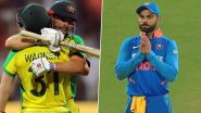 AUS 374/6 in 50 Overs | India vs Australia 1st ODI 2020 Live Score Updates: Aaron Finch, Steve Smith's Centuries Guides Australia To Mammoth Total