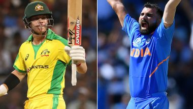 India vs Australia 2nd ODI 2020: David Warner vs Mohammed Shami, Virat Kohli vs Adam Zampa and Other Exciting Mini Battles to Watch Out for in Rajkot