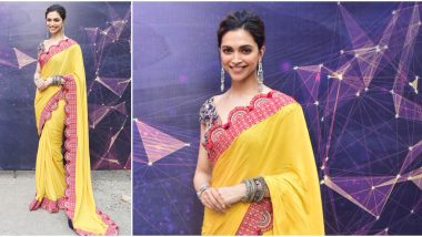 Deepika Padukone Stuns in a Gorgeous Yellow Saree and We Think It's Perfect for a Lohri 2020 Festival Outing! (See Pics)
